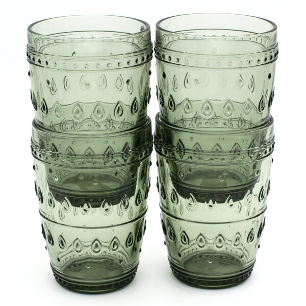 McKenney 14 oz. Highball Glass (Set of 4) by Bungalow Rose