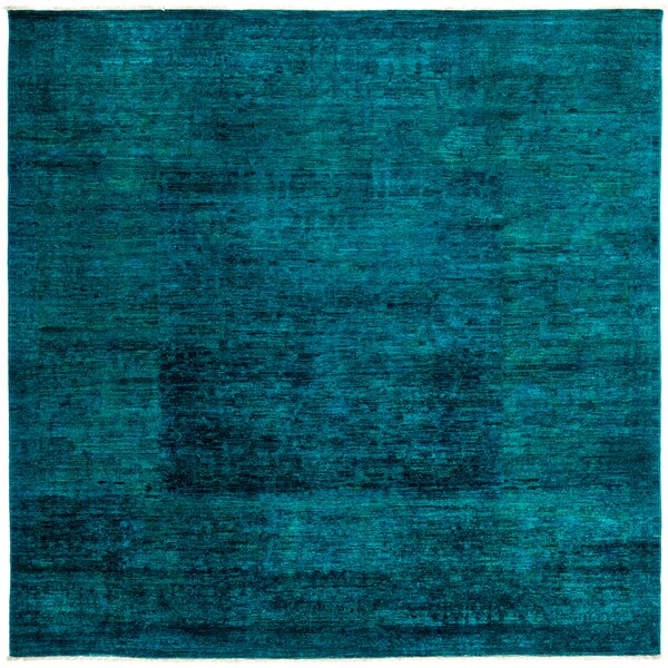 One-of-a-Kind Vibrance Hand-Knotted Blue Area Rug by Darya Rugs