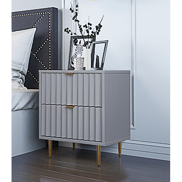 Collinge 2 Drawer Nightstand by Brayden Studio