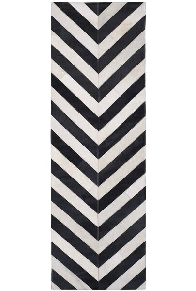 Drage Hand-Woven White / Black Area Rug by Bloomsbury Market
