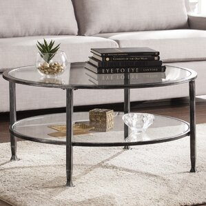 Casas Metal And Glass Round Coffee Table