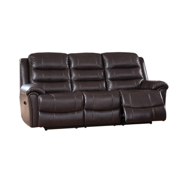 Astoria Reclining 3 Piece Leather Living Room Set by Amax