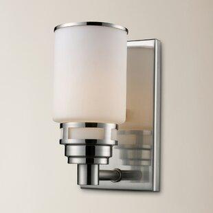 Reviews Brawner 1-Light Bath Sconce By Brayden Studio