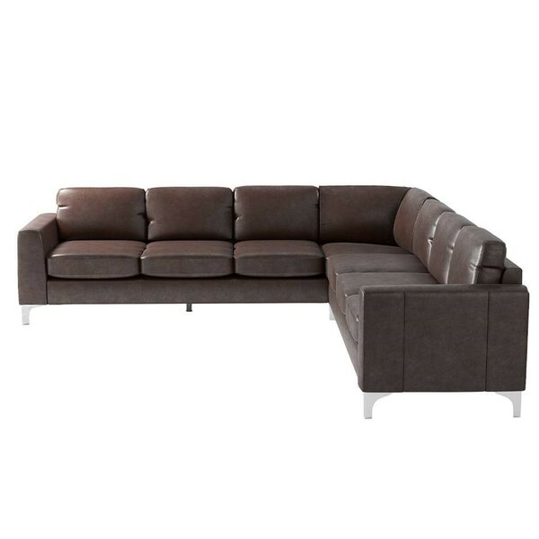 #2 Barraza Aniline Reversible Sectional By Wade Logan Reviews