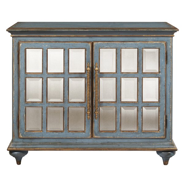 Carsonhill 2 Door Mirrored Accent Cabinet by Bloomsbury Market Bloomsbury Market