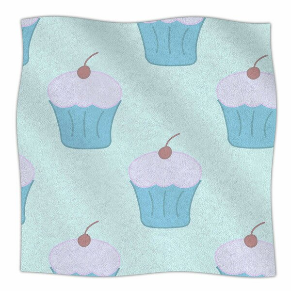 Cupcakes by NL Designs Fleece Blanket by East Urban Home