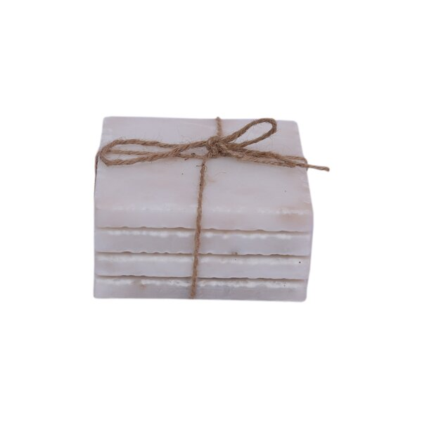 Chipped Edge Square Coasters (Set of 4) by Bungalow Rose