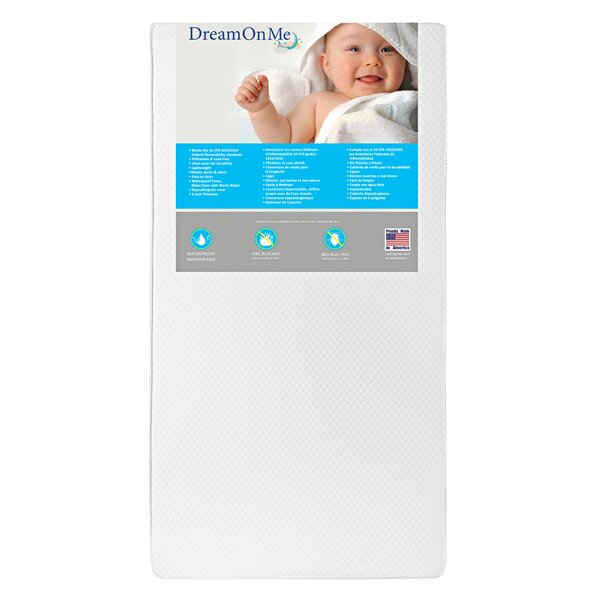 Lavender 6 Crib and Toddler Mattress by Dream On Me