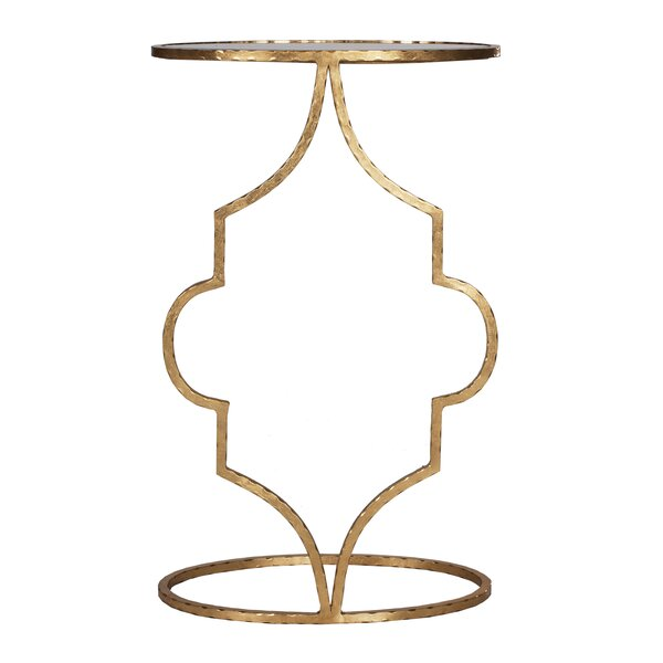 Hammered Cigar End Table By Worlds Away