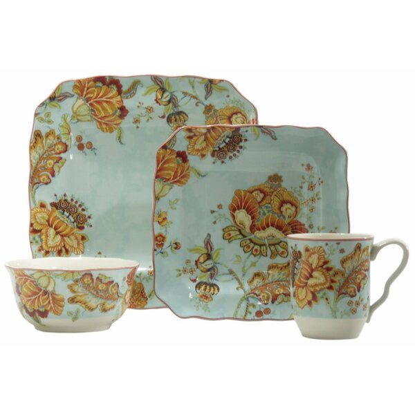 Gabrielle 16 Piece Dinnerware Set, Service for 4 by 222 Fifth