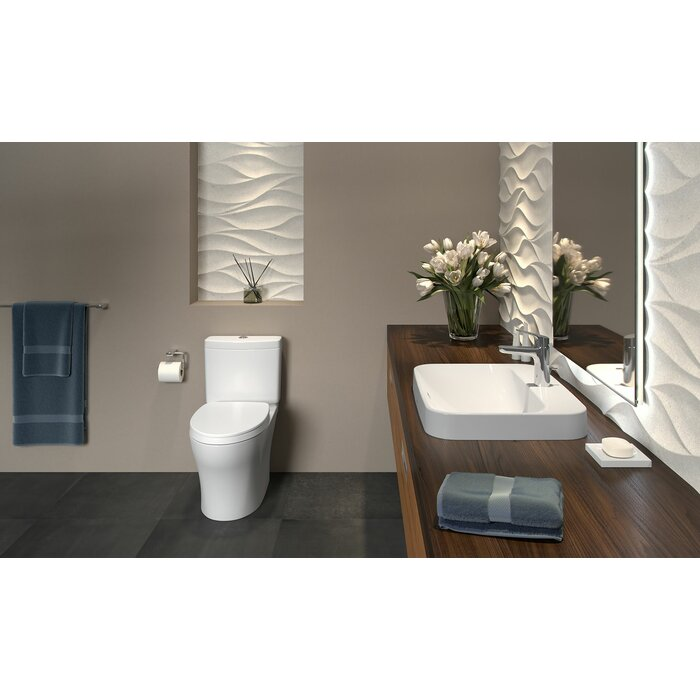 Aquia IV Dual Flush Elongated Two-Piece Toilet (Seat Included) on