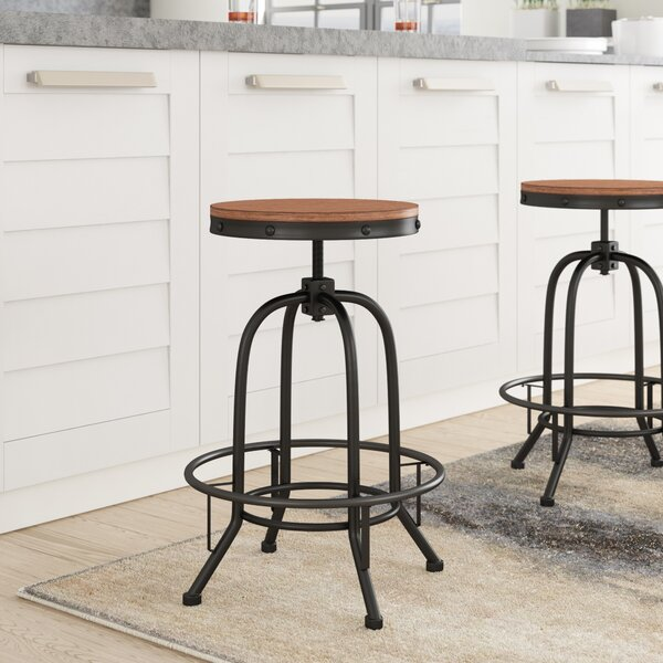 Empire Adjustable Height Swivel Bar Stool (Set of