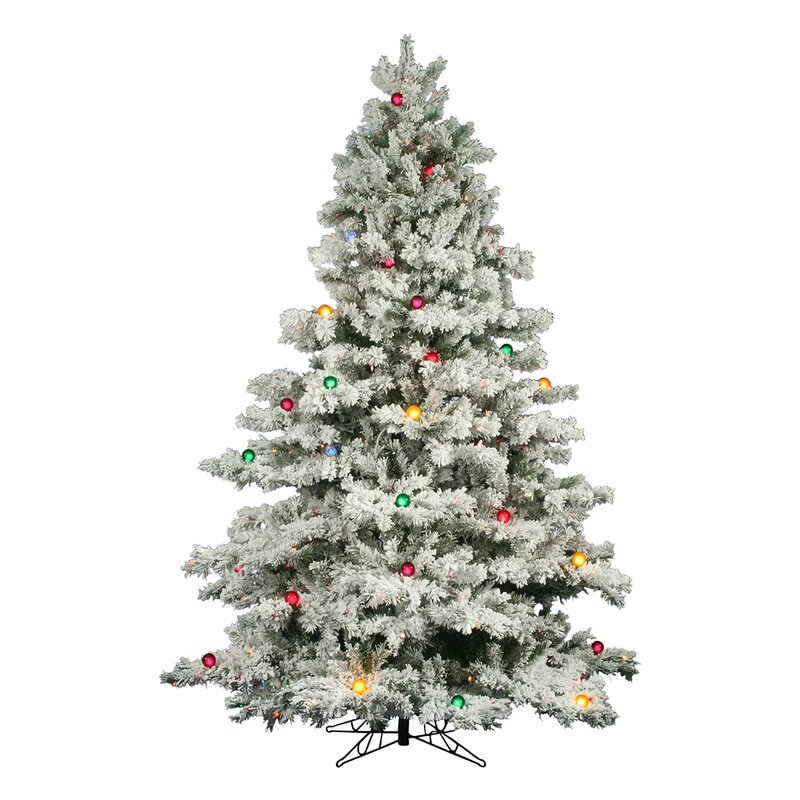 The Holiday Aisle Flocked Alaskan 9' White Artificial Christmas
