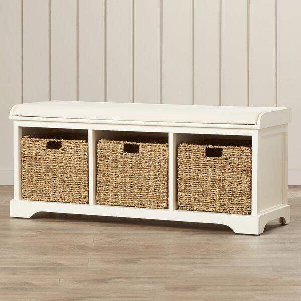 Seminole Wood Storage Bench by Beachcrest Home