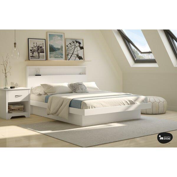 south shore basic queen platform bed reviews wayfair - Basic Bed Frame