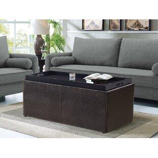 Makela 3 Piece Faux Leather Storage Bench Set
