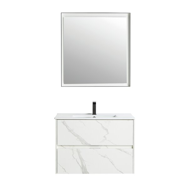 Kareena 29 Wall-Mounted Single Bathroom Vanity Set with Mirror