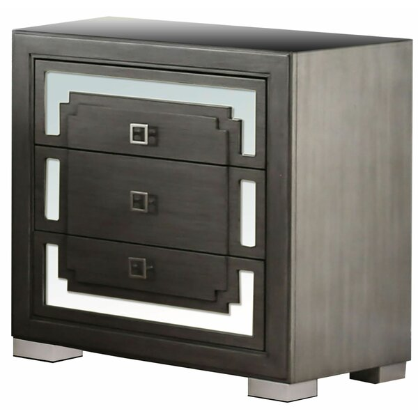 Pingry 3 Drawer Nightstand by Wrought Studio