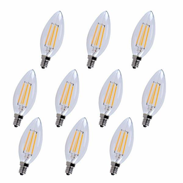 4W E12/Candelabra LED Vintage Filament Light Bulb (Set of 10) by Elegant Lighting