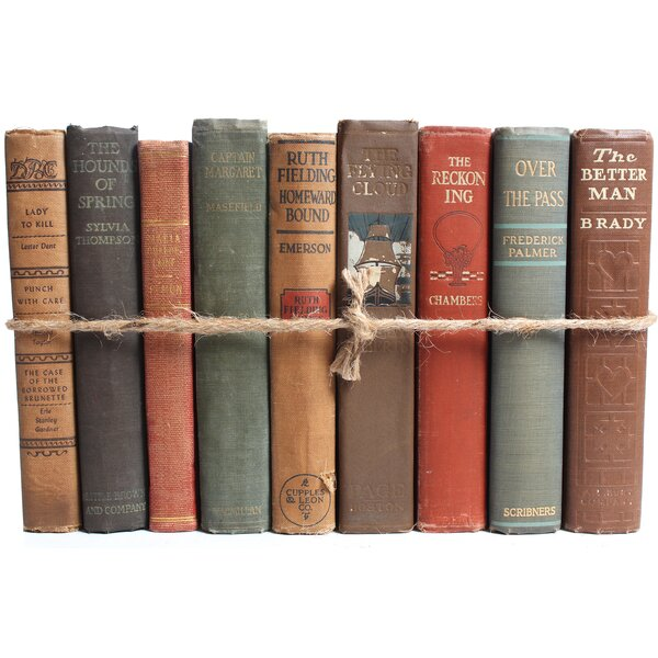 Authentic Decorative Books - By Color Antique Harvest ColorPak (1 Linear Foot, 10-12 Books) by Booth & Williams