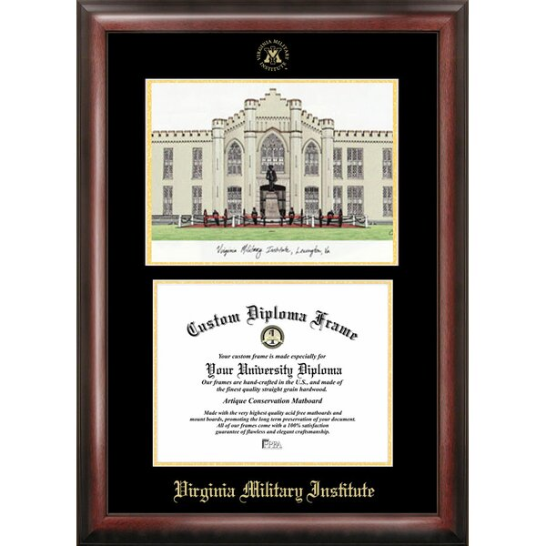 NCAA Virginia Military Institute Diploma Lithograph Picture Frame by Campus Images
