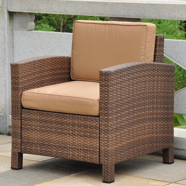 Katzer Aluminum Contemporary Patio Chair with Cushion by Brayden Studio