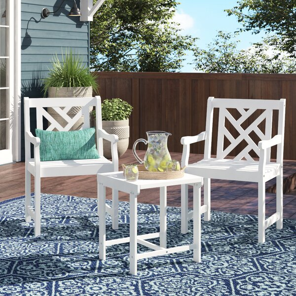 Amabel Patio Wood 3 Piece Sofa Seating Group