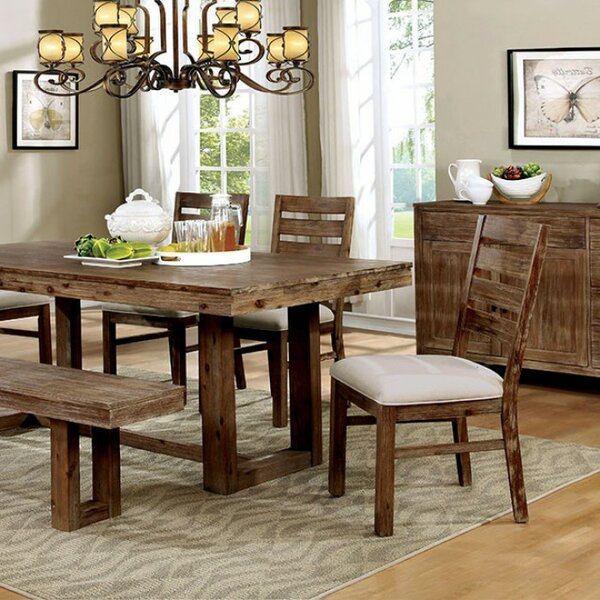 Thibodeaux Country Solid Wood Dining Table by Union Rustic