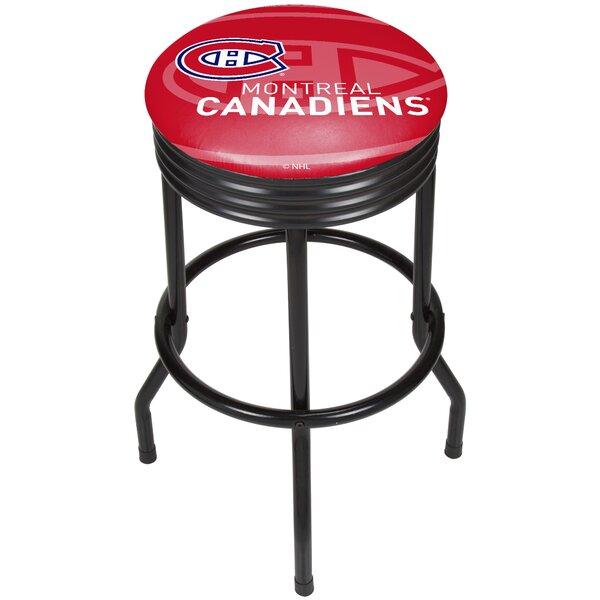 NHL Ribbed 28.5 Swivel Bar Stool by Trademark Global