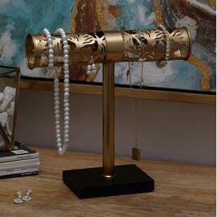 Affordable Glam Iron Tubular Jewelry Stand ByBungalow Rose