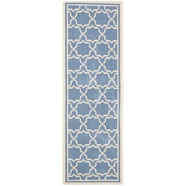 António Geometric Blue Indoor / Outdoor Area Rug