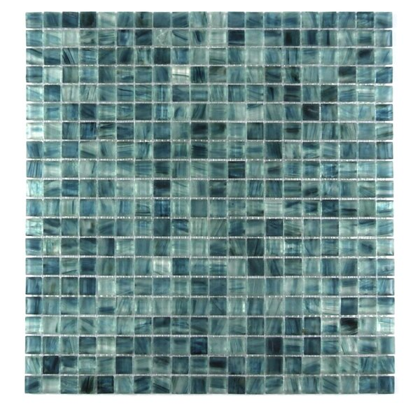 Honey Berries 0.63 x 0.63 Glass Mosaic Tile in Ocean by Abolos