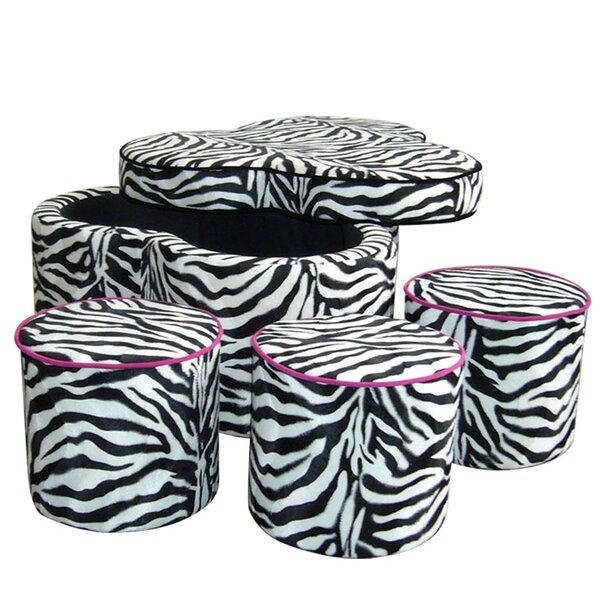 ORE Furniture Zebra Storage Ottoman With Seating U0026 Reviews   Wayfair