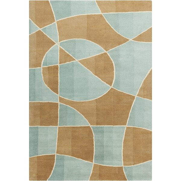 Oritz Hand Tufted Wool Brown/Blue Area Rug by Brayden Studio