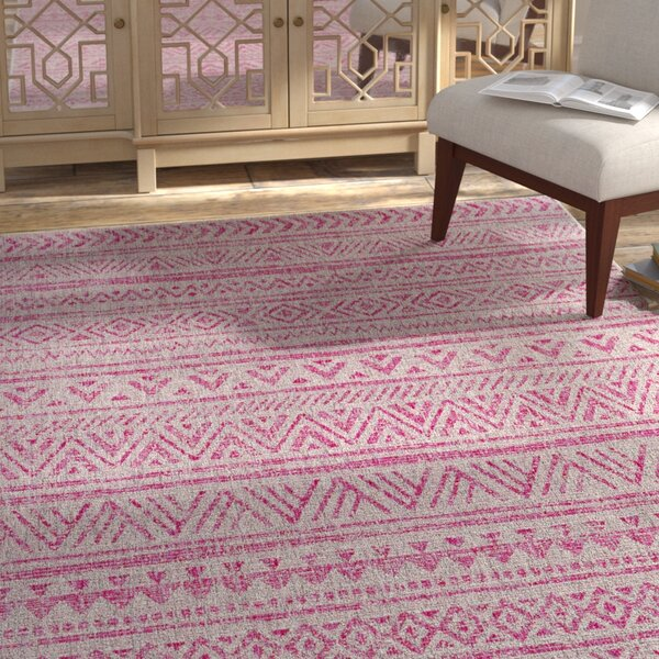 Alfred Global Bright Pink/Light Pink Indoor/Outdoor Area Rug by Langley Street