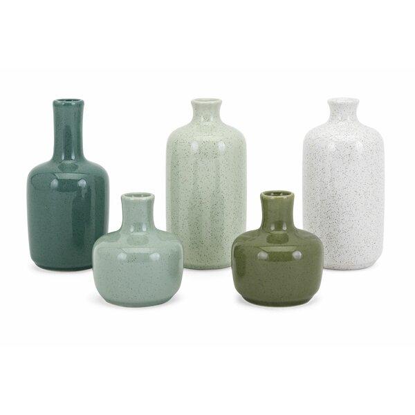 Steelman Mini 5 Piece Table Vase Set by Bay Isle Home