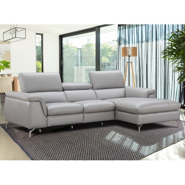 Serena Leather Reclining Sectional by J&M Furniture