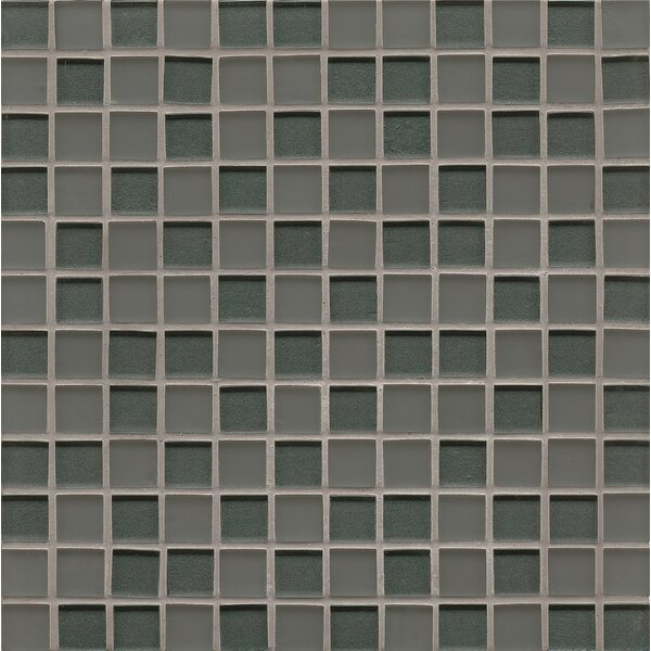 Remy Glass Mosaic Mesh Mounted Tile in Metal by Grayson Martin