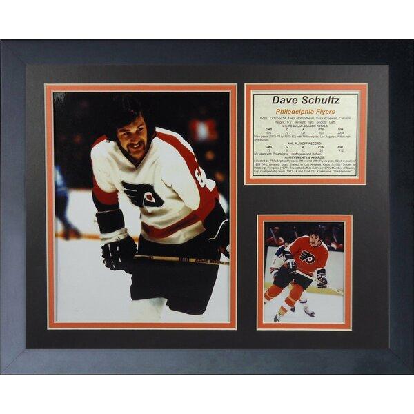 Dave Schultz - Philadelphia Flyers Framed Photographic Print by Legends Never Die