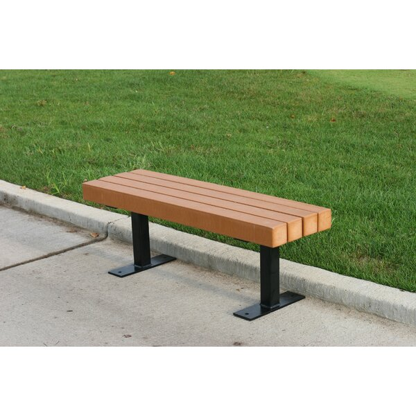 Trailside Recycled Plastic Park Bench by Frog Furnishings