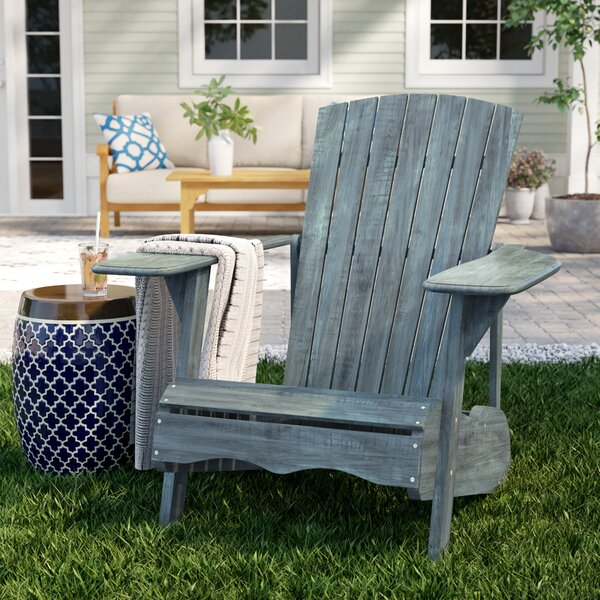 Melida Wood Adirondack Chair by Breakwater Bay Breakwater Bay