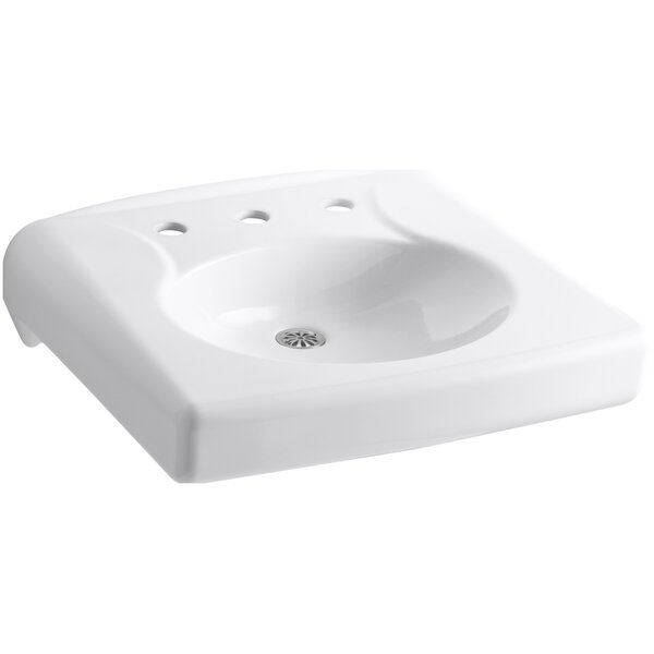 Brenham Ceramic 22 Wall Mount Bathroom Sink by Kohler