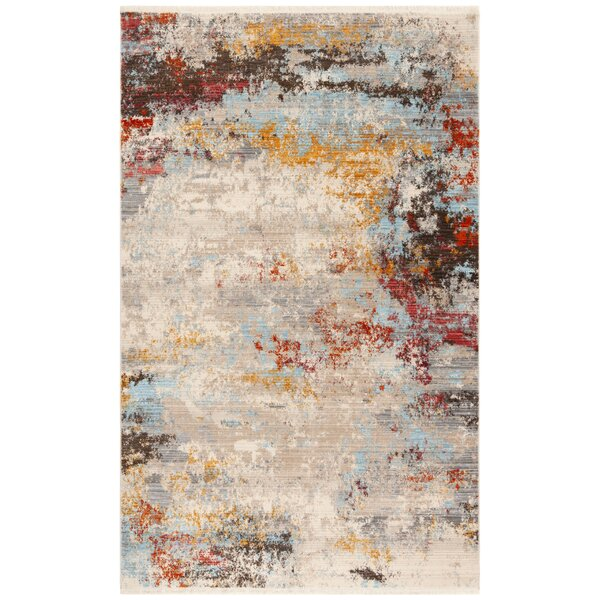 Bella Gray/Black Area Rug by Bungalow Rose