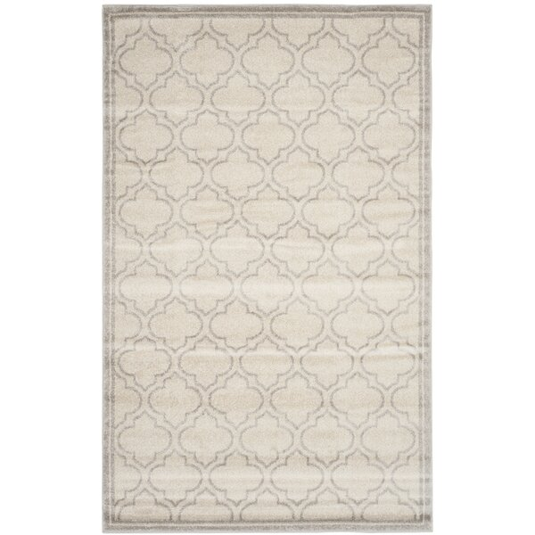 Maritza Light Gray/Ivory Indoor/Outdoor Area Rug by Willa Arlo Interiors