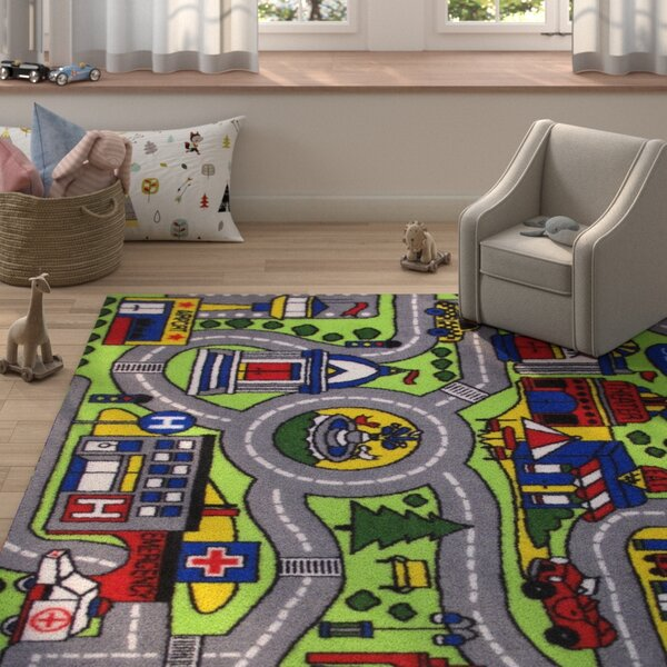 Fornax Driving Time Area Rug by Zoomie Kids
