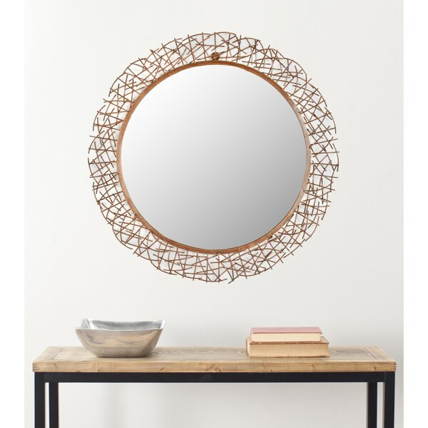 Round Twig Wall Mirror by Brayden Studio