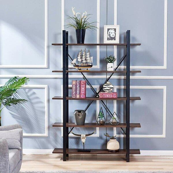 Crescio 5-Shelf Storage Etagere Bookcase by Williston Forge