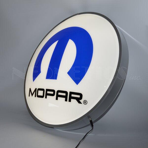 Mopar Omega M Backlit LED Lighted Sign by Neonetics