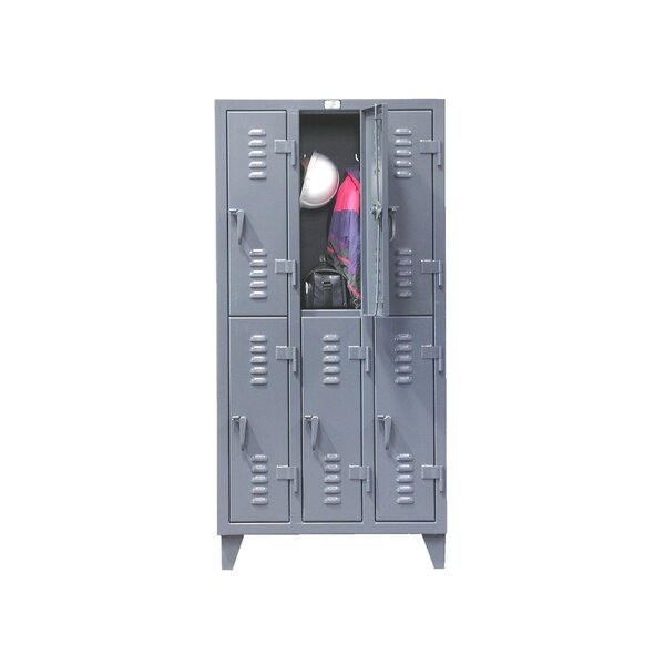 2 Tier 3 Wide School Locker by Strong Hold Products