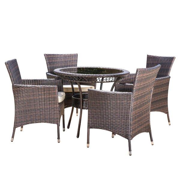 Berumen 5 Piece Dining Set with Cushions by Brayden Studio
